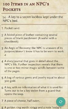 RPG Generator APK screenshot 1