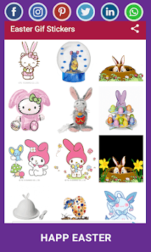Easter Gif Stickers APK screenshot 1