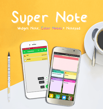 SuperNote: Widget Note, Color Notes & Notepad APK screenshot 1