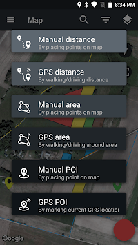 GPS Measurer - Area, Perimeter, Distance, POI APK screenshot 1