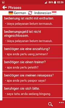 Indonesian - German APK screenshot 1