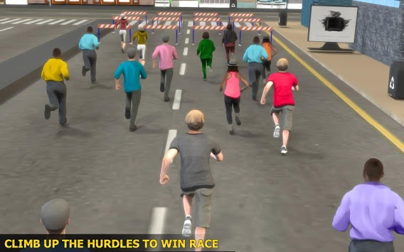 Marathon Race Simulator 3D: Running Game APK screenshot 1