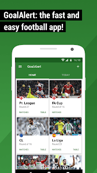 GoalAlert Football Live Scores Fixtures Results APK screenshot 1