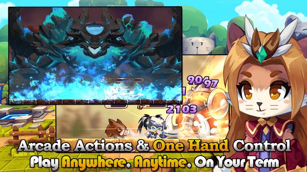 Sword Cat Online - Anime Cat MMO Action RPG APK screenshot 1