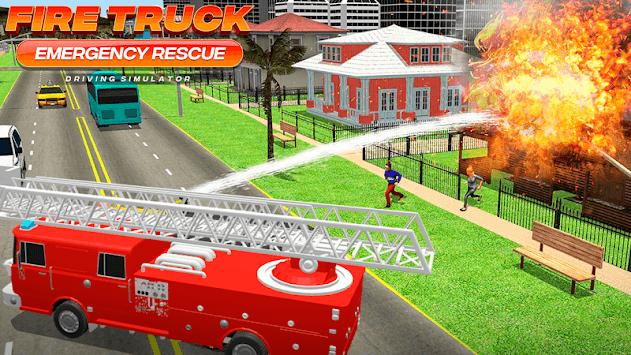Fire Truck Emergency Rescue - Driving Simulator APK screenshot 1