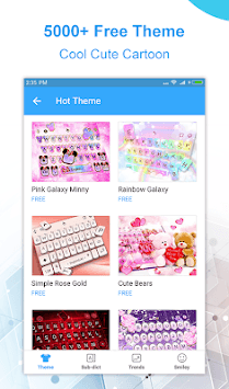 Touchpal Lite - Emoji &Theme & GIFs Keyboard APK screenshot 1