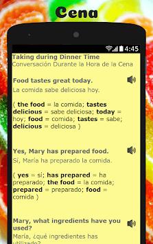 Spanish to English Lesson: Aprende Inglés Hablando APK screenshot 1