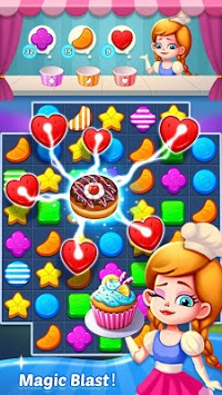 Best match 3 puzzle world : Candy Holic APK screenshot 1