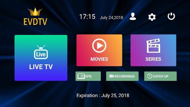 EVDTV PLAYER 2.1 APK screenshot 1