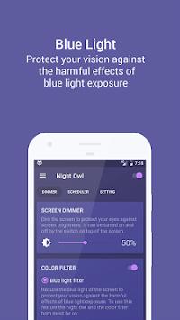Night Owl - Screen Dimmer & Night Mode APK screenshot 1