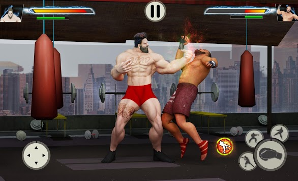 Virtual Gym Fighting: Real BodyBuilders Fight APK screenshot 1