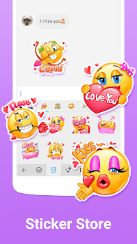 Facemoji Keyboard Lite for Xiaomi - Emoji & Theme APK screenshot 1