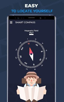 Compass Pro For Android: Digital Compass Free APK screenshot 1