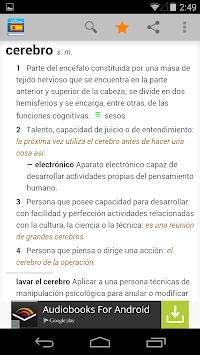 Diccionario de español APK screenshot 1