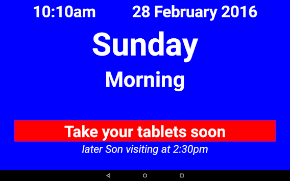 Dementia/Digital Diary/Clock APK screenshot 1