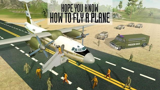 Army Criminals Transport Plane APK screenshot 1