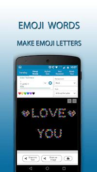 Text Generator - Fun With Stylish Emoji Words APK screenshot 1