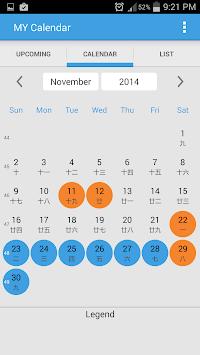 Malaysia Calendar APK screenshot 1