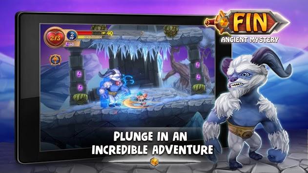 Fin & Ancient Mystery: platformer adventure APK screenshot 1