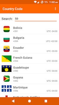 Country Code APK screenshot 1