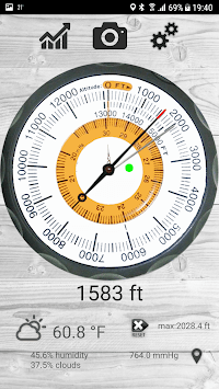 Altimeter free APK screenshot 1