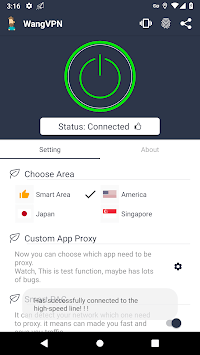 Wang VPN ❤️- Free Fast Stable Best VPN Just try it APK screenshot 1