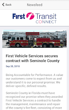 First Transit Connect APK screenshot 1
