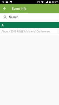 2019 PAGE Ministerial Conference APK screenshot 1