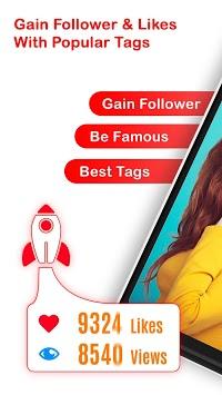 Follower Booster - Get Followers, Gain Likes, Tags APK screenshot 1