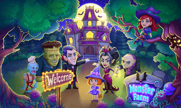 Monster Farm: Happy Halloween Game & Ghost Village APK screenshot 1