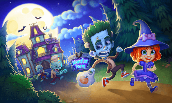 Monster Farm: Happy Halloween Game & Ghost Village APK screenshot 1