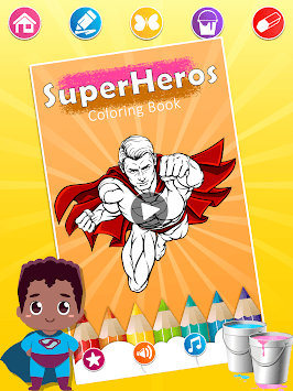 Superhero Coloring Pages APK screenshot 1