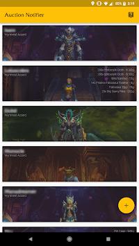 Auction Notifier for World of Warcraft APK screenshot 1