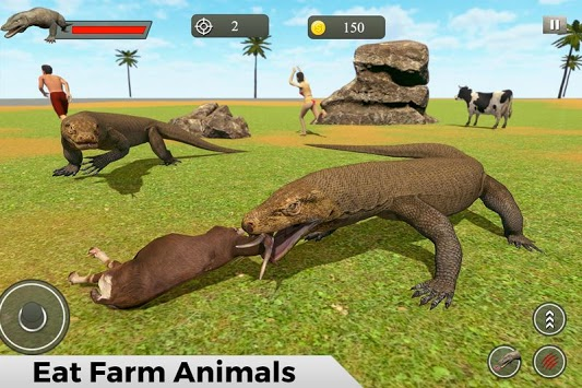 Komodo Dragon Family Sim: Beach & City Attack APK screenshot 1