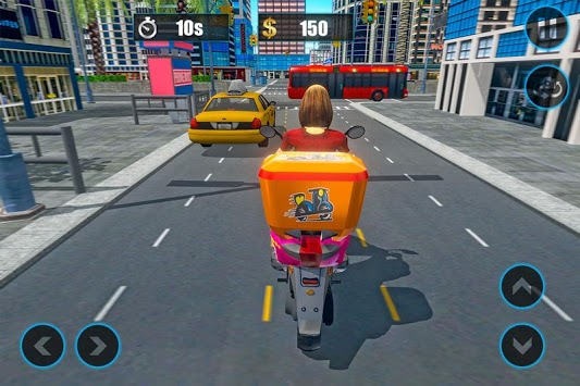 Moto Bike Pizza Delivery 2019 – Girl Food Game APK screenshot 1