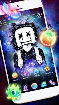 DJ Neon Galaxy Launcher Theme Live HD Wallpapers APK screenshot 1