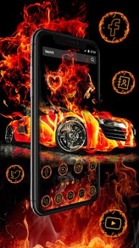 Flaming Car Sports Launcher Theme Live Wallpapers APK ...