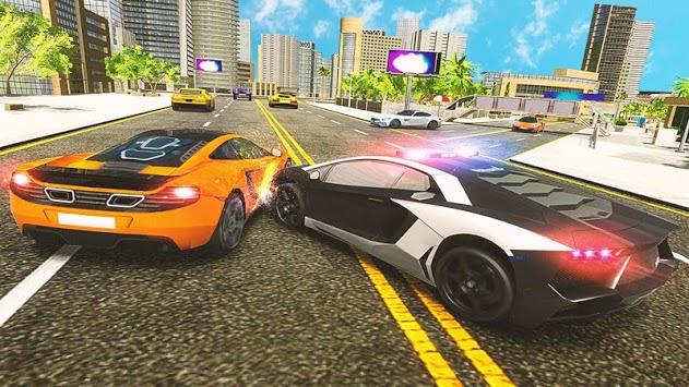 Police Car Chase Challenge Pursuit  2019 APK screenshot 1