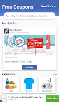 Coupon, vouchers and promo codes APK screenshot 1