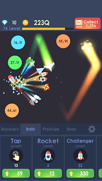 Idle Rocket - Aircraft Evolution & Space Battle APK screenshot 1