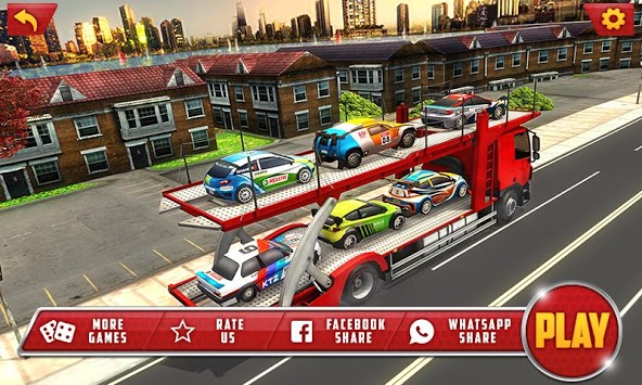 Vehicle Transporter Trailer Truck Game APK screenshot 1
