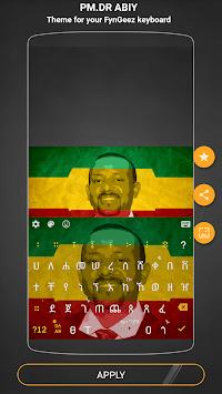 Amharic Keyboard theme for PM.DR ABIY APK screenshot 1