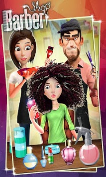 Barber Shop Hair Salon Beard Hair Cutting Games APK screenshot 1