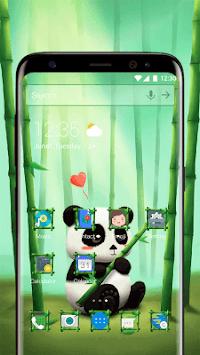 Bamboo Panda Emoji Theme APK screenshot 1