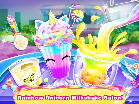 Ice Cream Milkshake Maker – Unicorn Food Cook Game APK screenshot 1