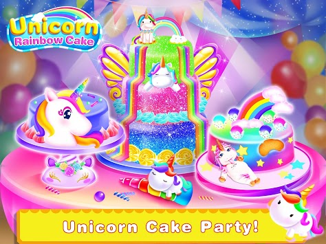 Unicorn Food-Children Rainbow Cake Bakery APK screenshot 1
