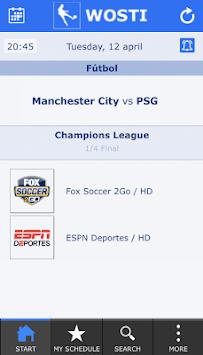 WOSTI Live Soccer TV APK screenshot 1