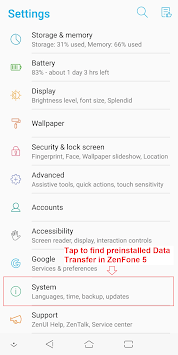 ASUS Data Transfer APK screenshot 1