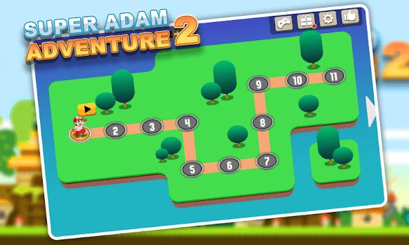 Super Adam Adventure 2 - More Levels APK screenshot 1