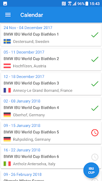 Biathlon Live Results 2018/2019 APK screenshot 1